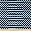 Minky Mini Chevron Light Blue/Black