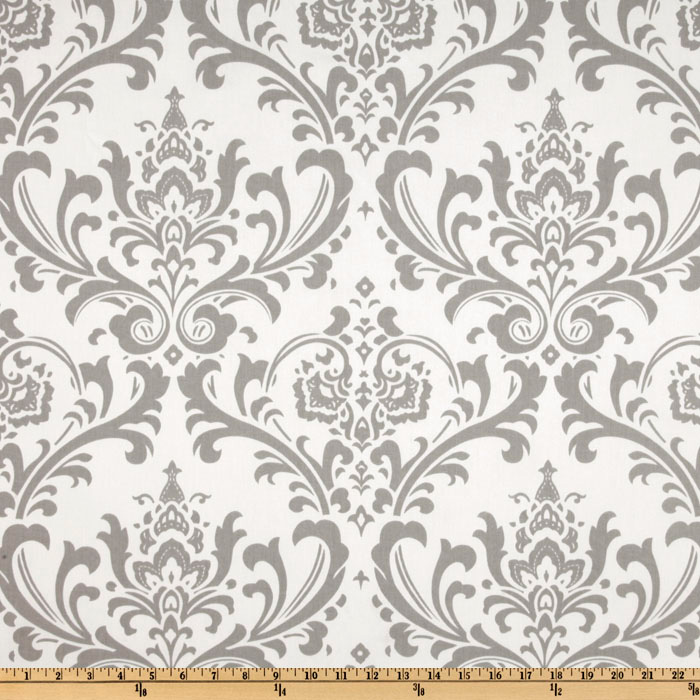 Premier Prints Traditions Twill Storm Grey Fabric