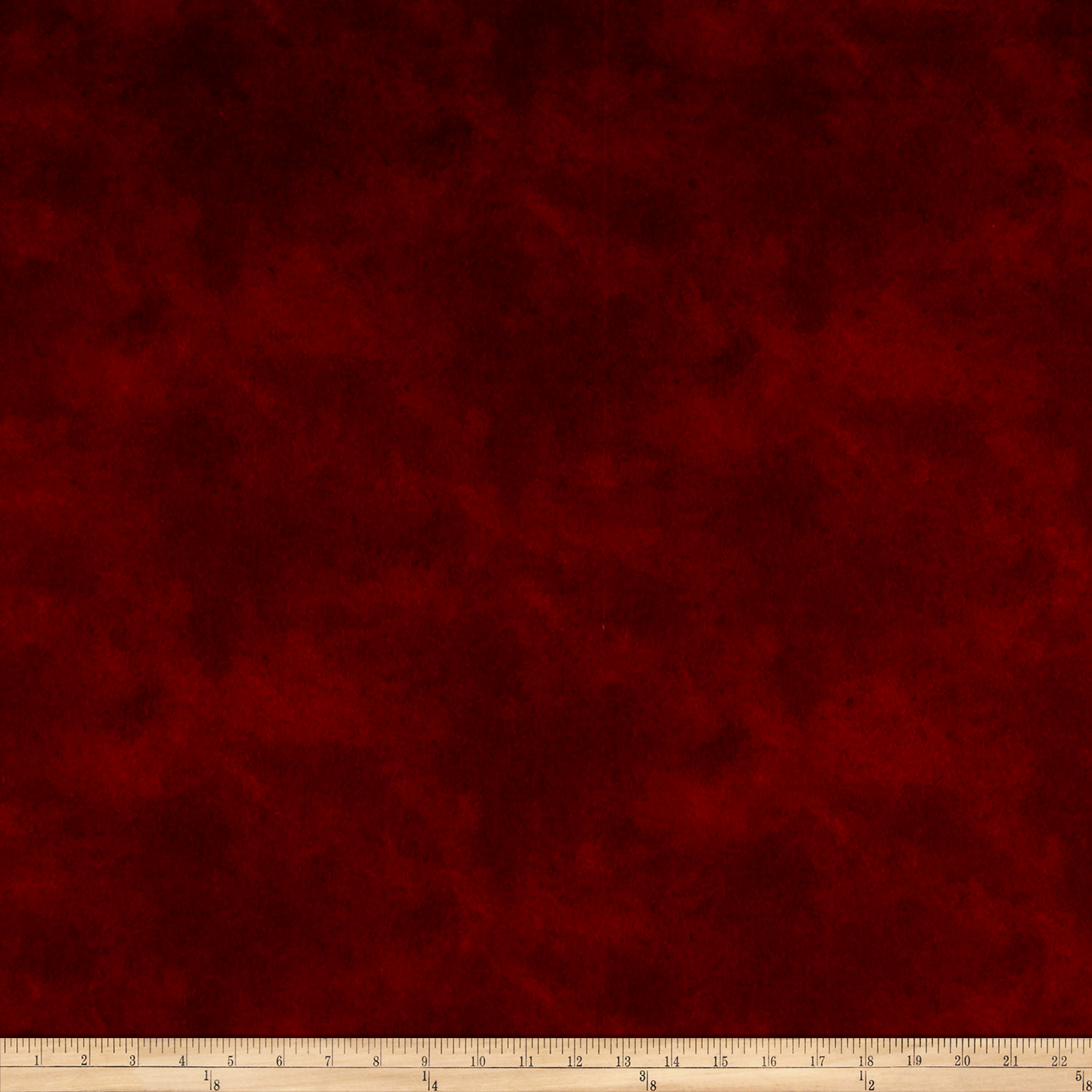 Suede Flannels Dark Red Fabric by P & B in USA