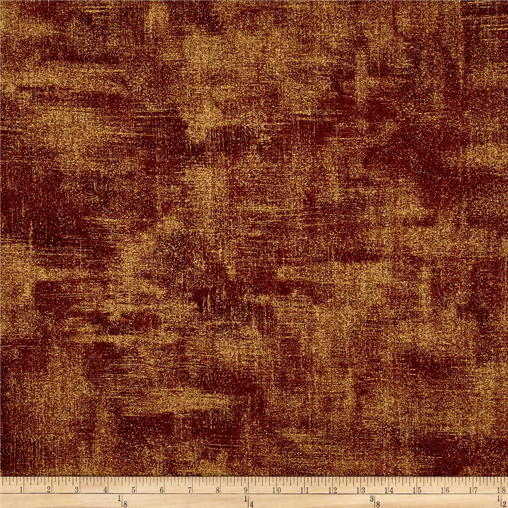 Moda Luxe Brushstroke Metallic Bordeaux