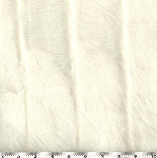 Faux Fur Grooved Mink White