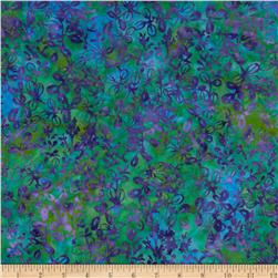 Island Batik Rayon Batik Lake Life Green/Purple