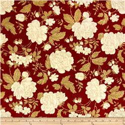 Madison Home Decor Michelle Floral Crimson