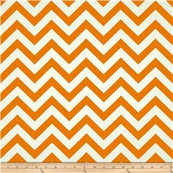 Premier Prints Zig Zag Mandarin Natural Fabric