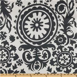 Premier Prints Suzani Slub Charcoal Fabric