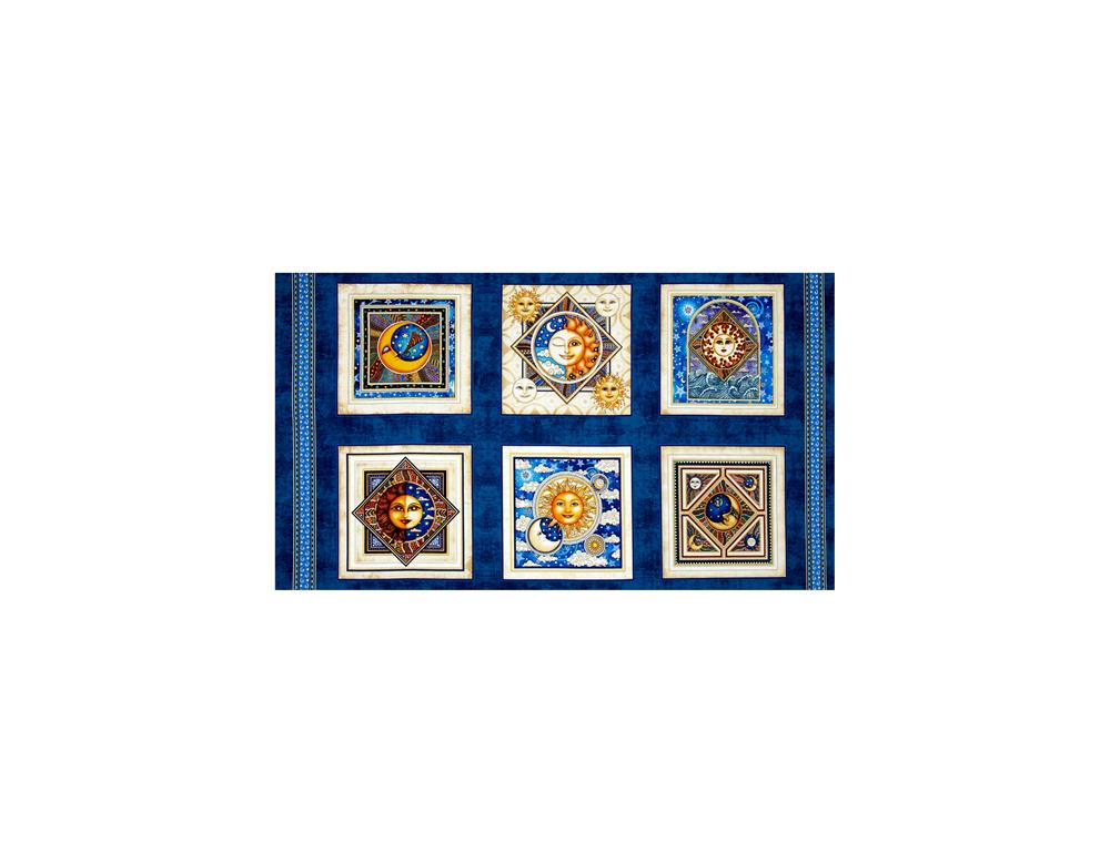 Celestial Sol Metallic Picture 24 In. Panel Dark Blue