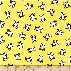 Henry Glass & Co. Panda-monium Flannel Mini Panda Yellow