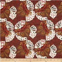 Kanvas Wild West Saloon Full House Rust Fabric
