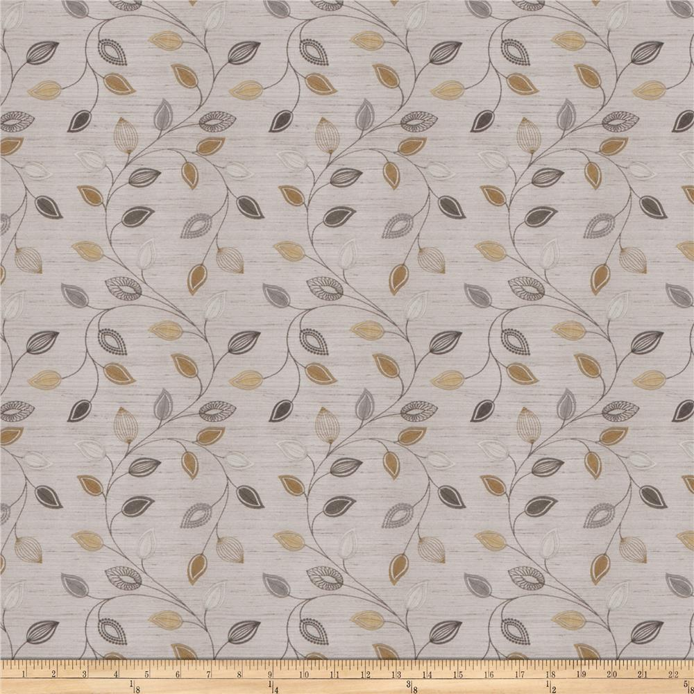 Fabricut Coquet Embroidered Dupioni Platinum
