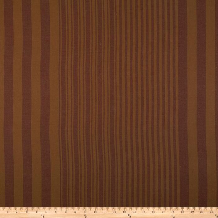 Kaffe Fassett Shirting Two Tone Stripe Pumpkin