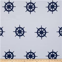 RCA Blackout Drapery Fabric Captain's Wheel Navy