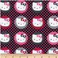 Hello Kitty Flannel Dots on Dots Fuchsia