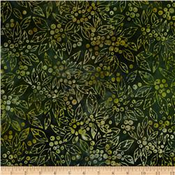 Robert Kaufman Northwood Batiks Medium Leaves Pine