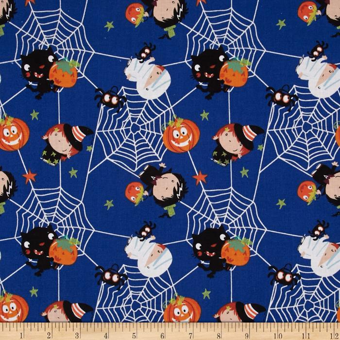 Spooky Web of Characters Blue