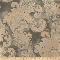 Fabricut Audrey Wallpaper Charcoal (Double Roll)