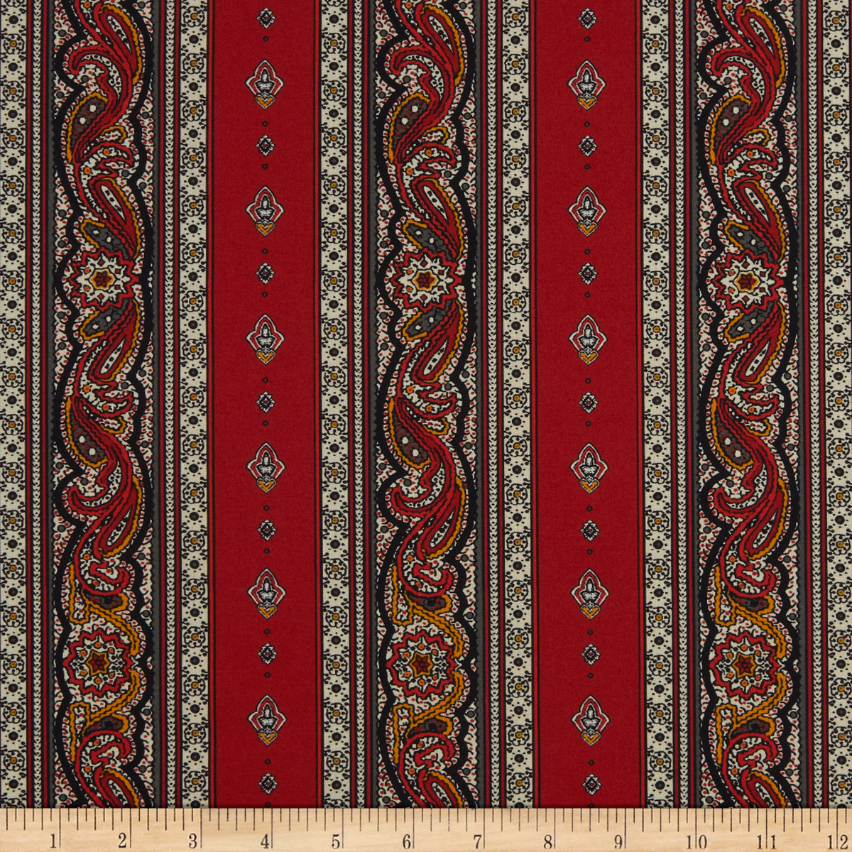 STOF France Valdrome Galon Rouge Fabric