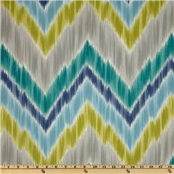 Braemore Tribal Find Ikat Chevron Aquamarine