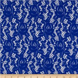 Camellia Lace Solid Royal Blue