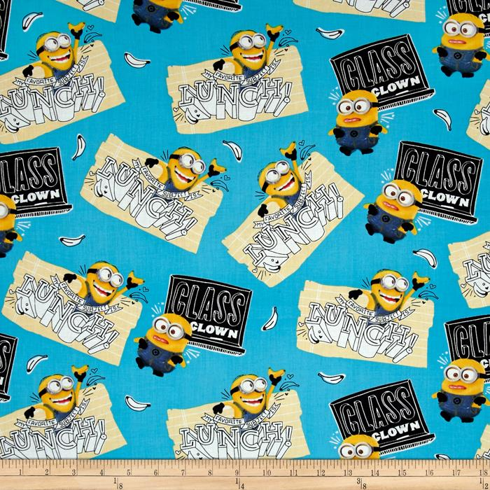 Despicable Me Minions Class Clown Blue Fabric
