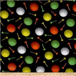 Fleece Prints All Star Sports Golf Ball Party Black