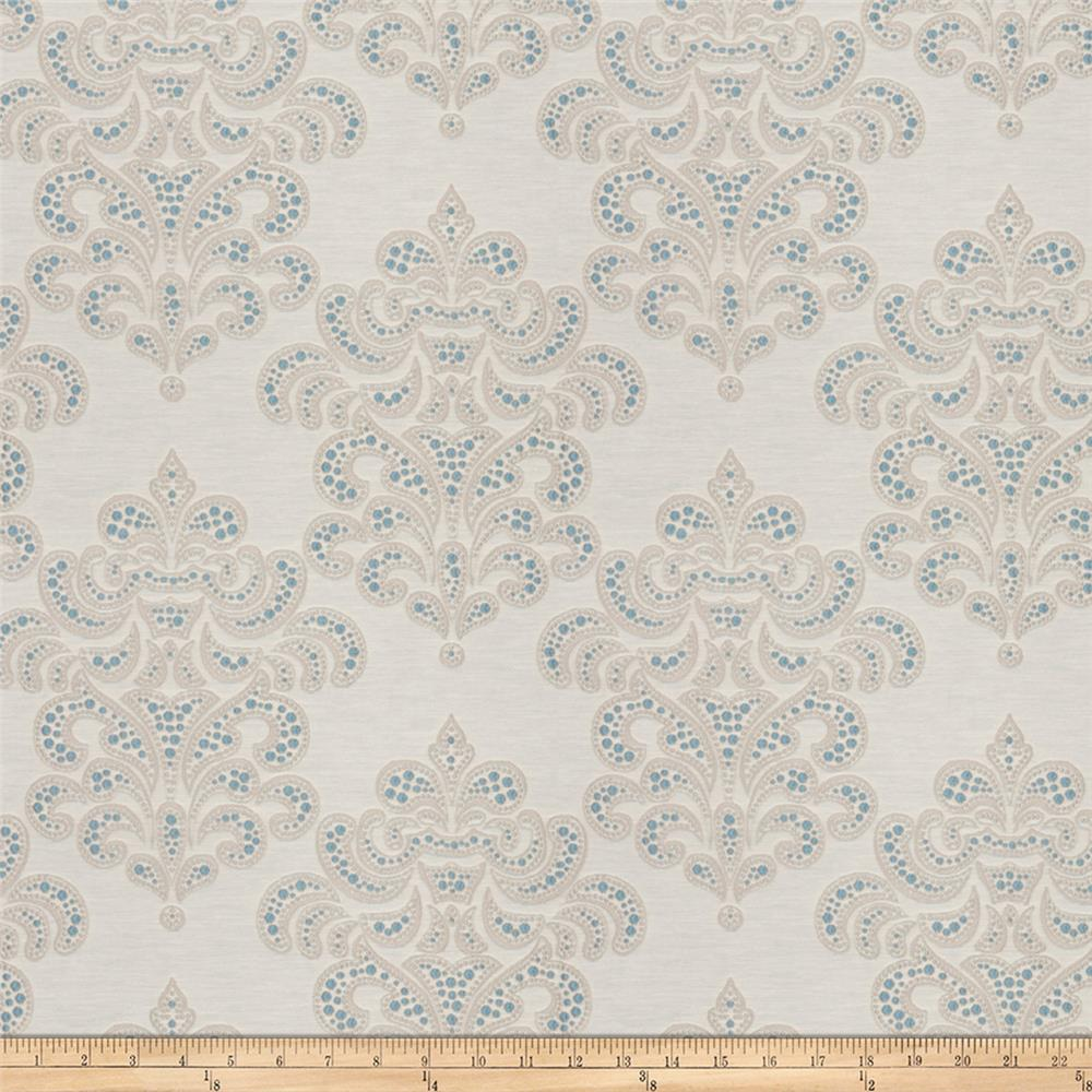 Fabricut Terrific Damask Jacquard Delft