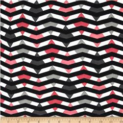 Fashionista Jersey Knit Diamond Chevron Coral