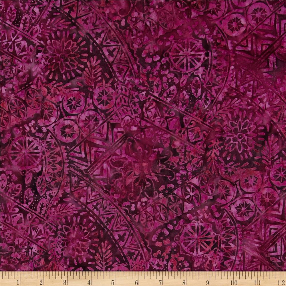 Timeless Treasures Tonga Batik Patchwork Beet