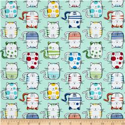 Fur & Flutter Silly Cats Mint