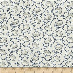 Blueberry Buckle Dotted Flowers Light Cream