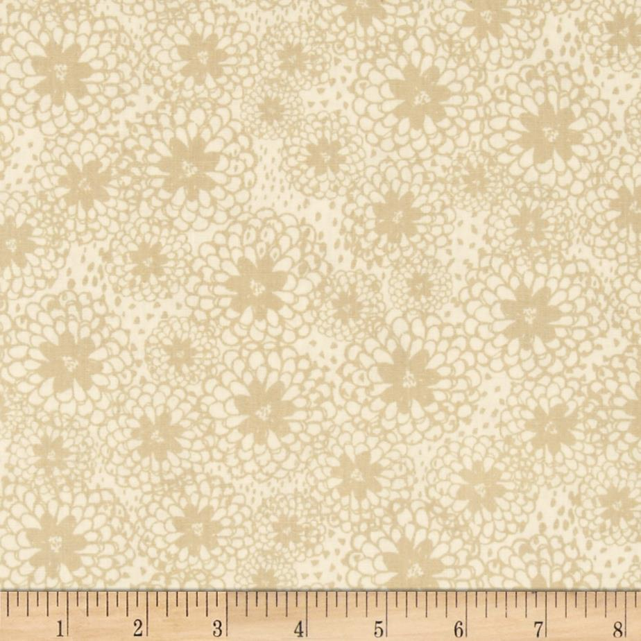 Bloom Stencil Floral Cream