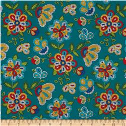 Tucson Beaded Floral Turquoise