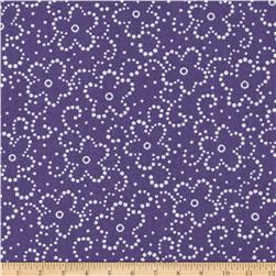 Daisy Floral Purple/White Fabric
