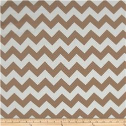 Chiffon Chevron Tan/White Fabric