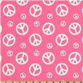 Premier Prints Peace Candy Pink/White
