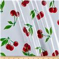 Oil Cloth Stella Cherries White
