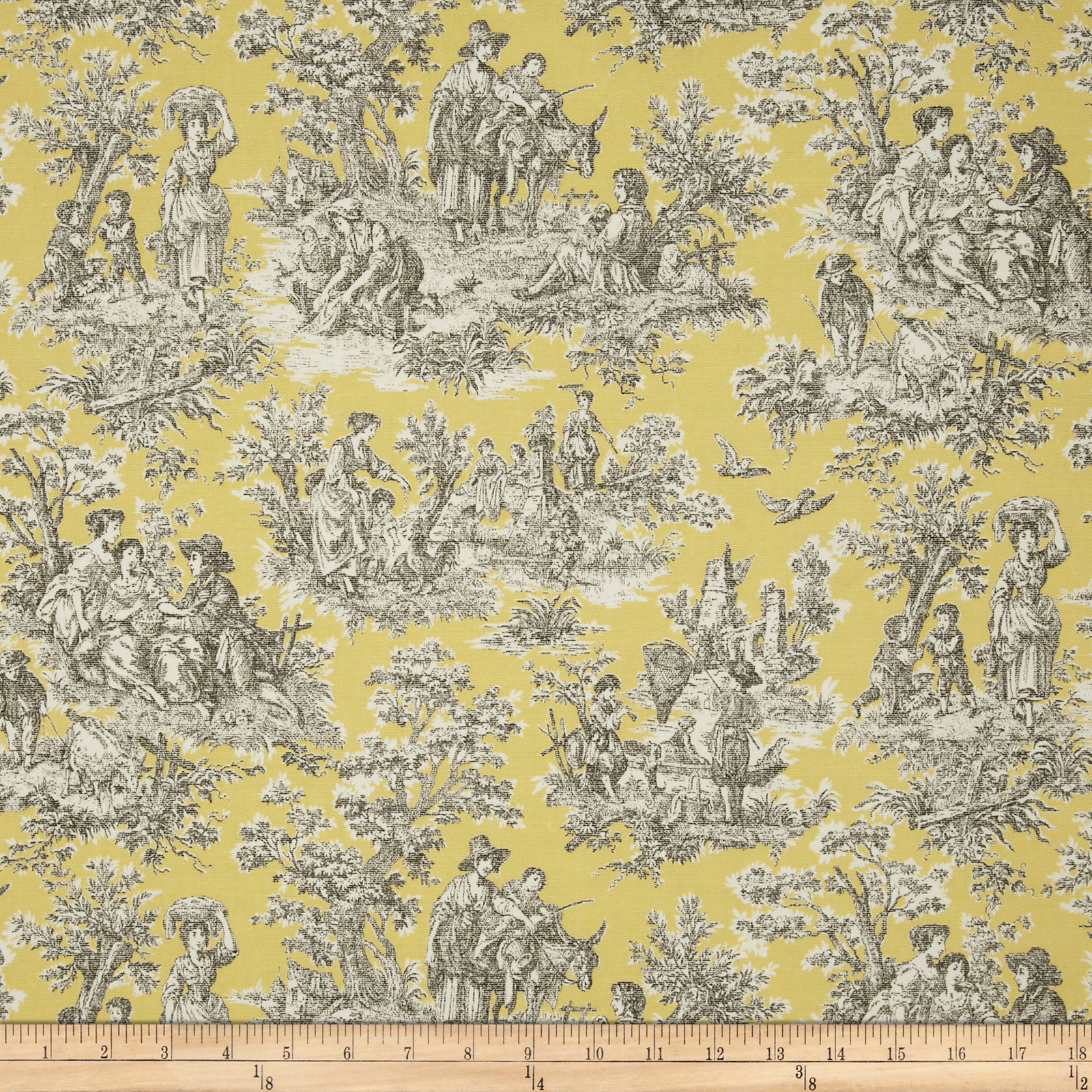 Decorating Ideas Toile Fabric: Waverly Rustic Life Toile Terracotta
