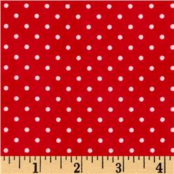 Arctic Antics Flannel Dot Red