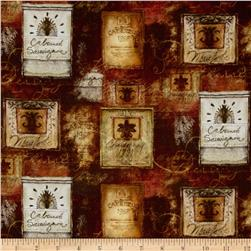 Mia Sonoma County Digital Print Wine Labels Rust