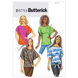Butterick Misses' Top Pattern B5753 Size 0Y0