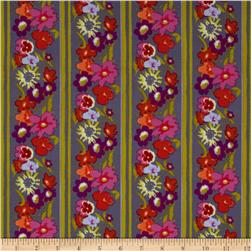 Secret Garden Window Box Stripe Denim Purple