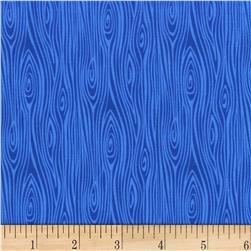 Michael Miller Tools Of The Trade Just Wood Knot Blue