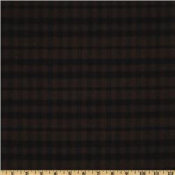Yarn Dyed Checkered Suiting Brown