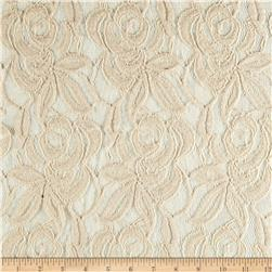 Cotton Blend Lace Flowers Natural