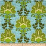 Arctic Fleece Damask Blue