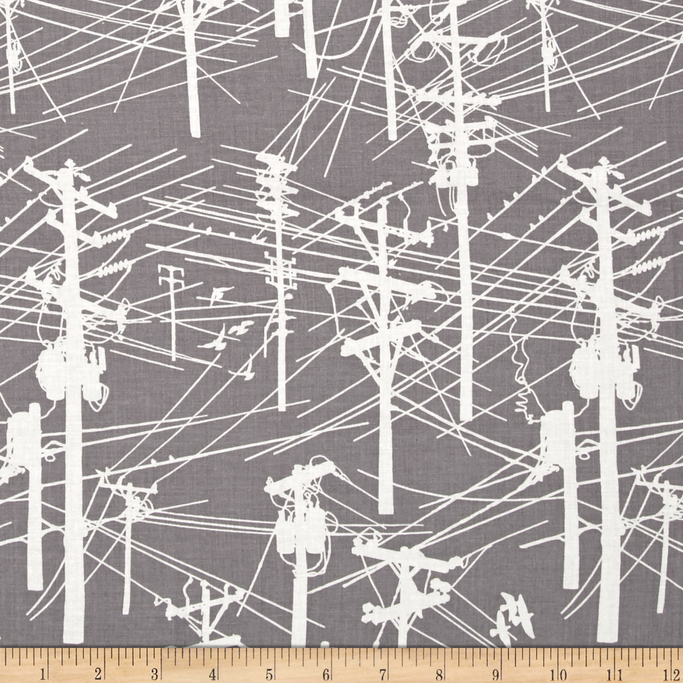 Power Lines In Backyard: SKU-456864 Grafic Power Lines Navy Fabric By The Yard From