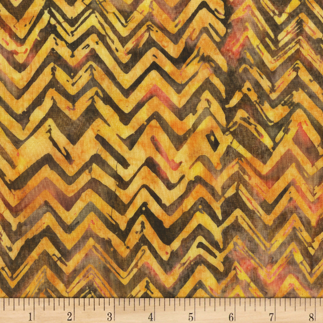Anthology Batiks Chevron Ember Fabric