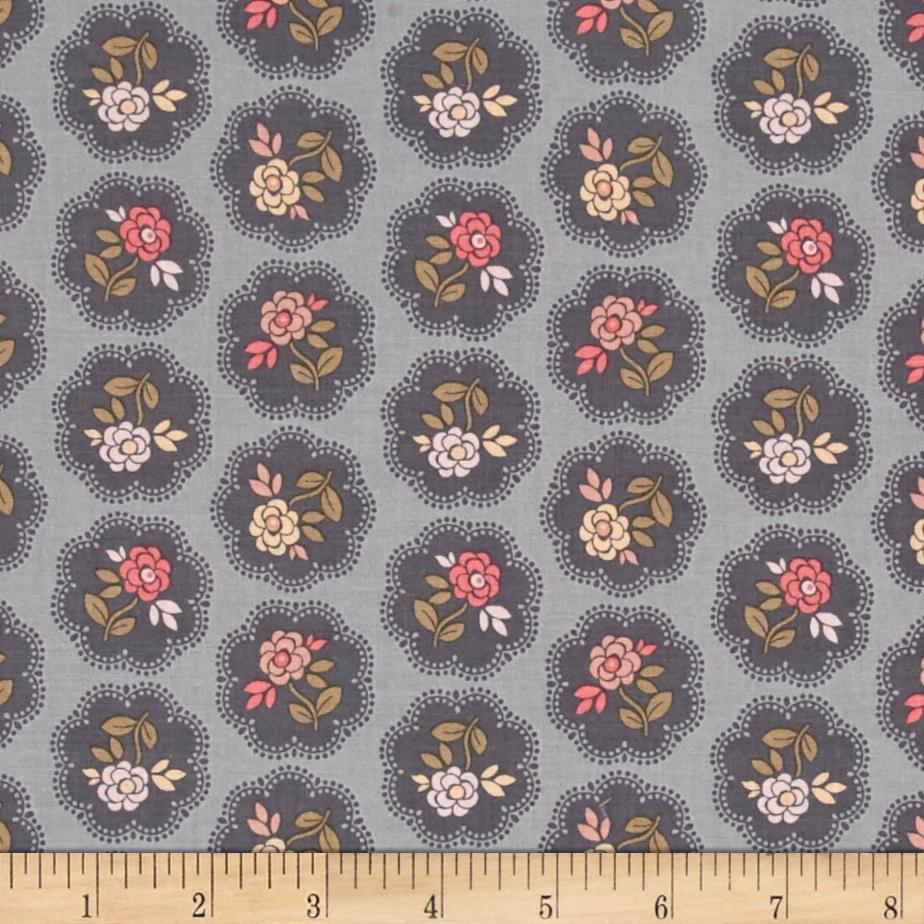 On Plumberry Lane Floral Grey