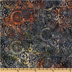 108'' Wide Tonga Batik Quilt Backing Floral Blueberry/Multi
