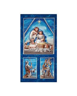 Nativity Metallic Panel Multi
