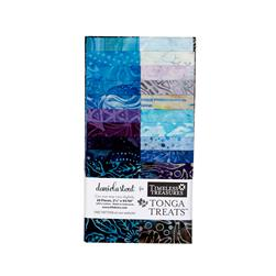 "Timeless Treasures Tonga Batik Riviera 2.5"" Strips"